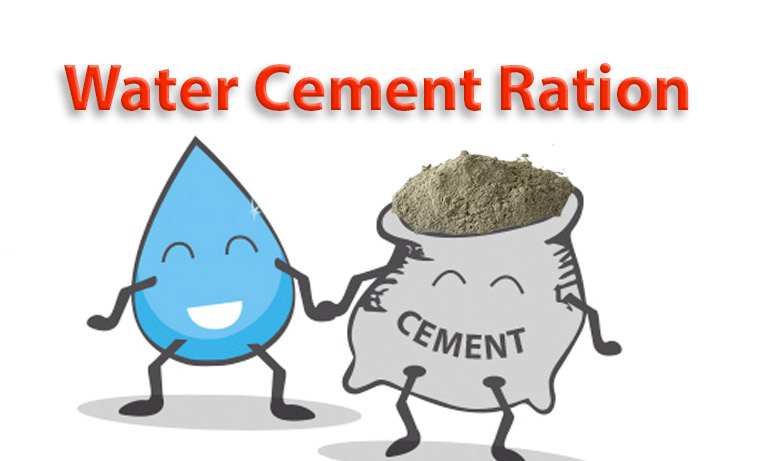 water cement ratio