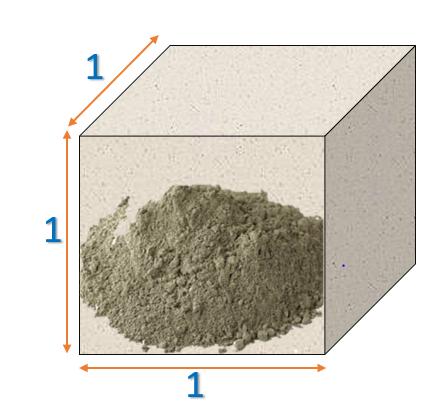 Cement in 1 cubic metre