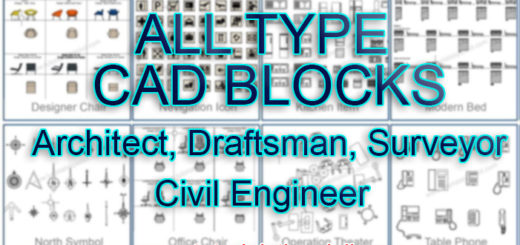 CAD BLOCKS for Architect, Draftsman, Surveyor Civil Engineer