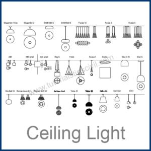 CEILING LIGHT CAD BLOCKS