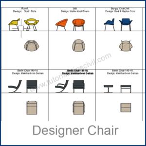 DESIGNER CHAIRS CAD BLOCKS