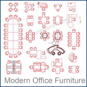 MODERN OFFICE FURNITURE CAD BLOCKS