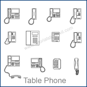 TABLE PHONE CAD BLOCKS