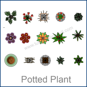 POTTED PLANT CAD BLOCKS