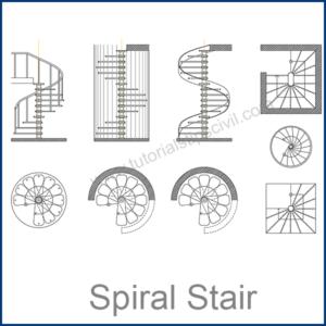 SPIRAL STAIR CAD BLOCKS