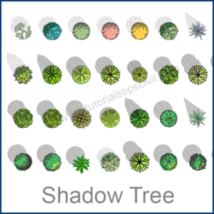 TREE TOP VIEW CAD BLOCKS
