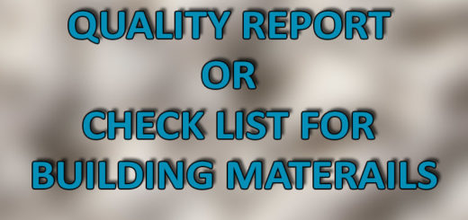 MATERIALS CHECK LIST