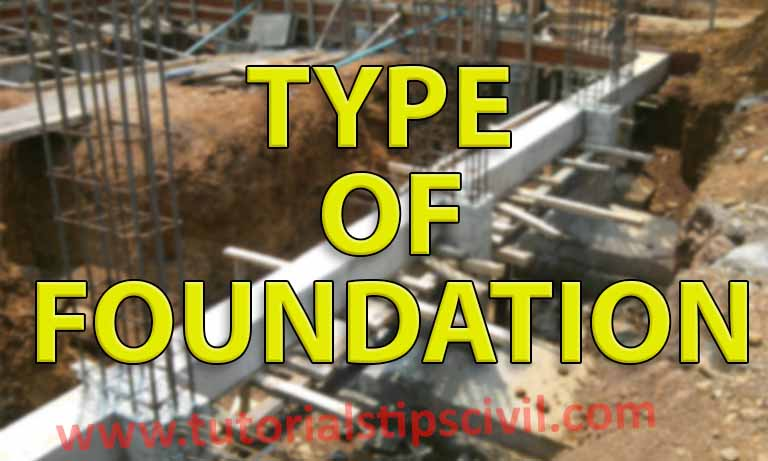 TYPE OF FOUNDATION