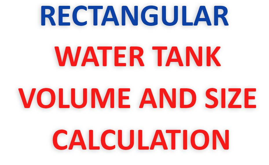WATER TANK CALCULATION