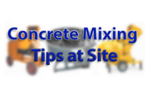 Type of concrete Mixing