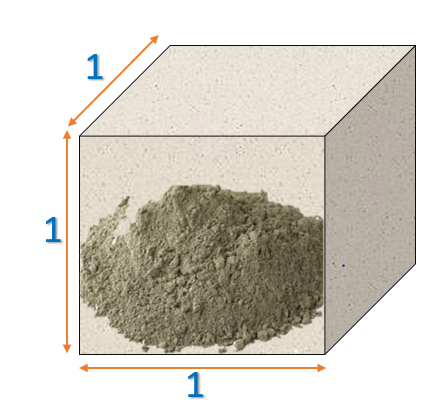 Cement in 1 cubic metre