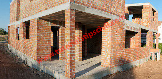 brick wall bearing structure