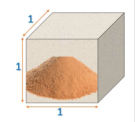 Sand in 1 cubic metre