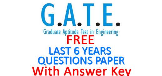 GATE EXAM PAPER