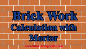 brick work calculation