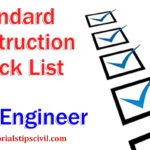 Check list for civil work