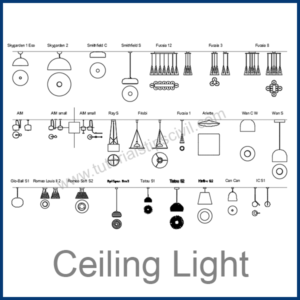 CEILING LIGHT CAD BLOCKS
