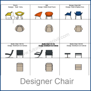 DESIGNER CHAIRS CAD BLOCKS