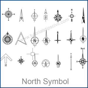 NORTH SYMBOL CAD BLOCKS