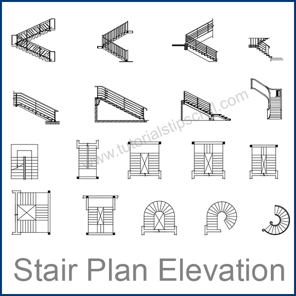 stair plan elevation