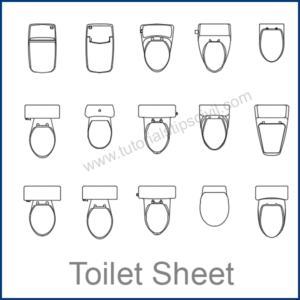 TOILET SHEETS CAD BLOCKS