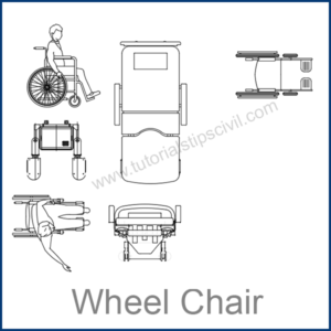 WHEEL CHAIR CAD BLOCKS
