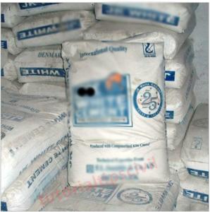 White cement bag