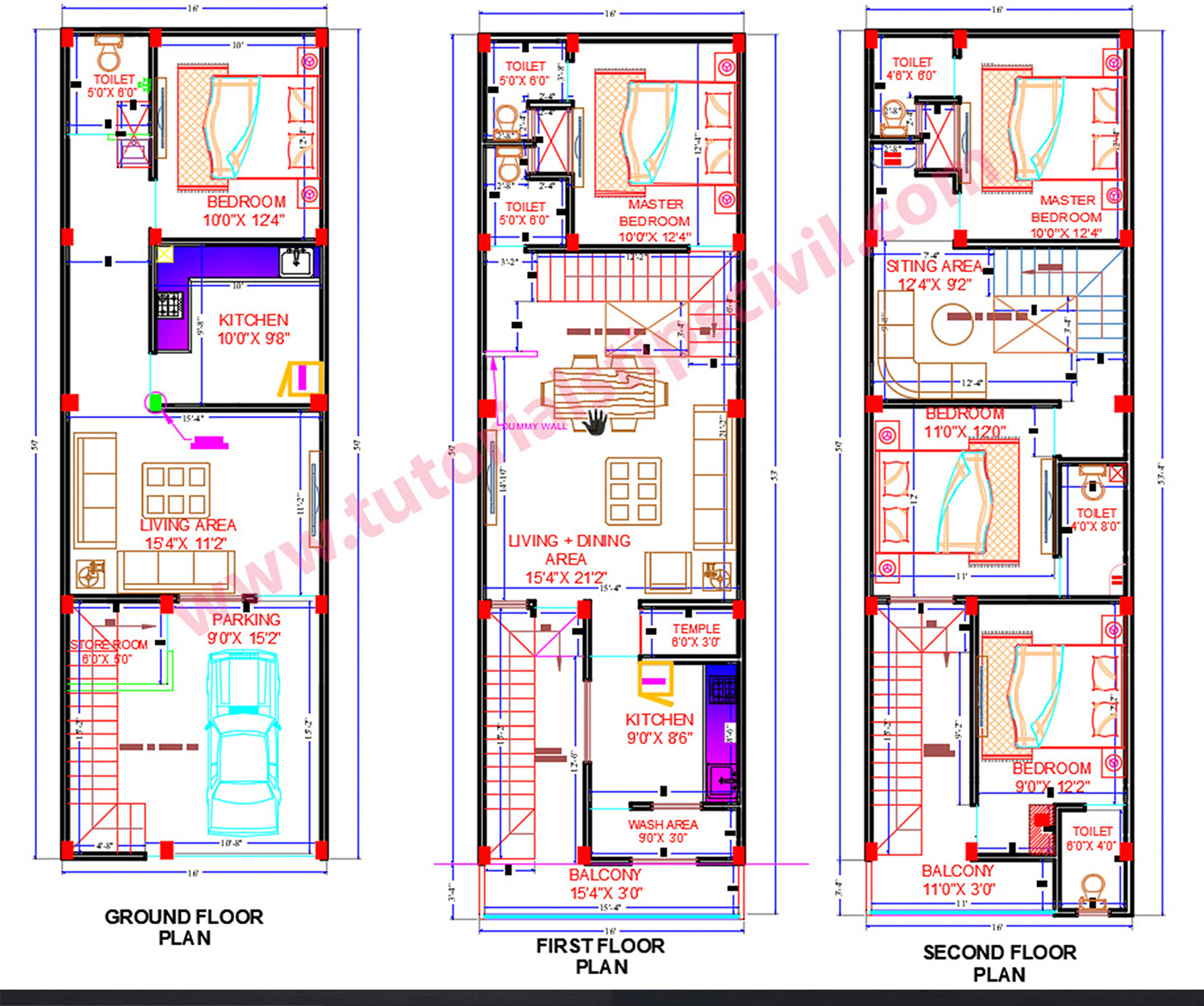 House Plan 15 x 50
