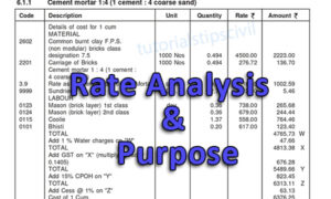 Rate analysis By CPWD