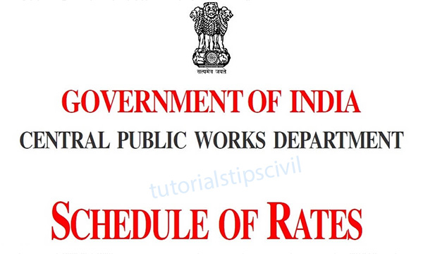 Schedule of rate for Contractor
