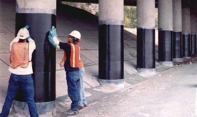  Wrapping column with CFRP