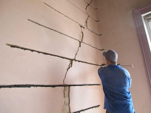 Crack Stitching in plaster