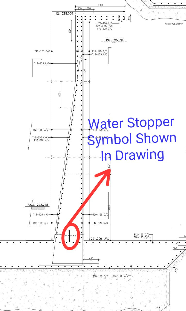 water stopper drawing